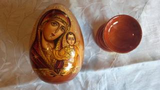 Icon mother of God Kazanskaya Easter egg